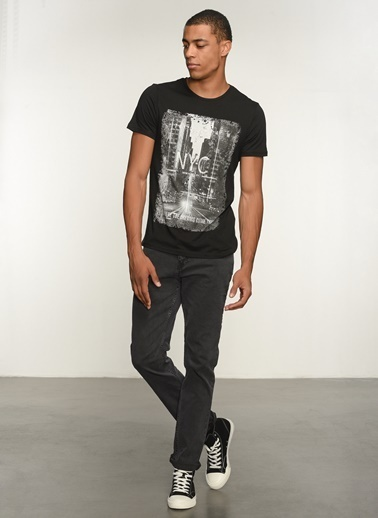 People By Fabrika Erkek  Jean Pantolon PFESS21JP0001 Gri